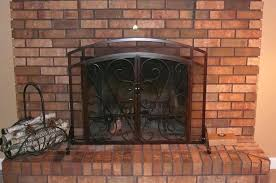 fireplace screens with glass doors lovely fireplace screens with doors about remodel simple home interior ideas