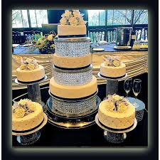 wedding crystal acrylic cake stand or separators 3 tier and 4 tiers with led light included