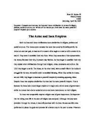 compare and contrast the inca and aztec civilization in terms of page 1 zoom in
