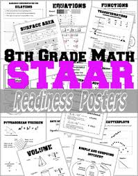 8th Grade Math Staar Readiness Posters Crafty Items And