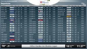 hilton garden inn boston logan airport installs flyteboard for fly away guest convenience