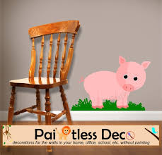 reusable pig wall decal