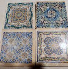 Decorative Tile Coasters Moroccan Tile coasters Travertine Coasters Stone Coasters 4