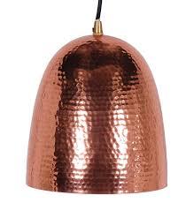 hammered copper pendant light