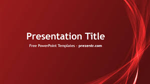 Red Ppt Free Abstract Red Powerpoint Template Prezentr Powerpoint