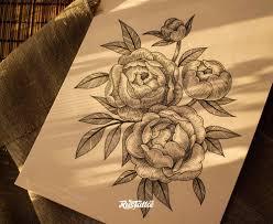 фото эскизы цветы в стиле графика татуировки на боку татуировки на