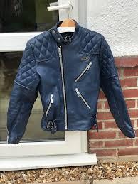 motorbike jacket vintage leather size small
