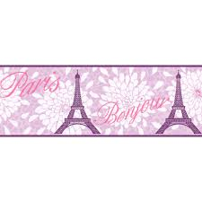 purple paris wallpaper border ks2265b