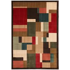 mohawk home patton brown indoor inspirational area rug common 8 x 11 actual