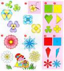 Схема поделки из цветов