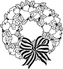 Small Picture Christmas Wreath Coloring Pages Wreath With Bow Coloring Pages For