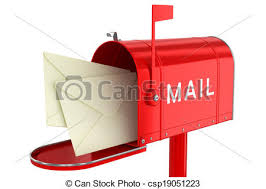 open mailbox. Letters In An Open Mailbox - Csp19051223 O