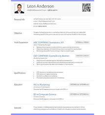 Online Cv Builder With Free Mobile Resume And Qr Code Resume Maker
