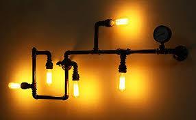Image Led Wall Amazon Vanme Tuyau Deau Vintage Wall Lights Décoration Appliques