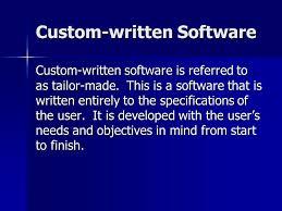 written custom written