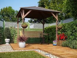 garden gazebo pressure treated wood hot tub shelter roof felt utopia 200 2mx2m