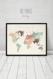 world map tapestry wall hanging world map world map poster wander world map wall art world