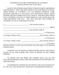 blank power of attorney power of attorney template free printable revocation of power