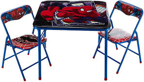 That's where your kid's favourite. Amazon Com Marvel Spider Man 3 Piece Table And Chair Set Toys Games