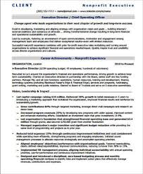 sample nonprofit executive director resume executive director resume sample