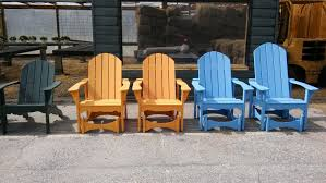 adirondack chairs in natural finish at a vermont inn