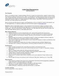 Sales Representative Resume Sample Fresh Sales Rep Resume