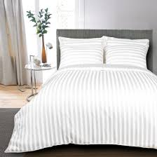 egyptian cotton 400 tc duvet cover striped white