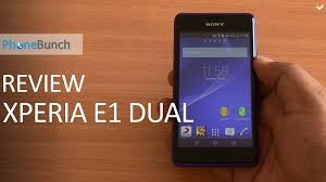 Sony Xperia E1 Dual Review