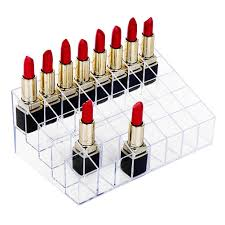 Amazon.com: Lipstick Holder, HBlife 40 Spaces Clear Acrylic Lipstick  Organizer Display Stand Cosmetic Makeup Organizer for Lipstick, Brushes,  Bottles, ...