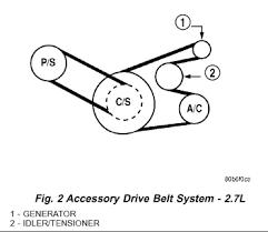serpentine belt diagram for 2004 sebring 2 7 l