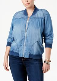 american rag american rag trendy plus size chambray bomber jacket