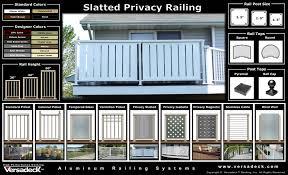 Privacy deck rail Horizontal Slatted Privacy Aluminum Railing Infamousnowcom Versadeck Aluminum Railing Systems Maintenance Free Deck Railings