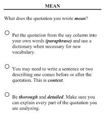 writing analysis say mean matter writing analysis esat high school mr westrup