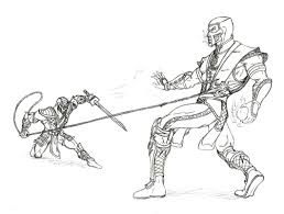 Small Picture Mortal kombat coloring pages scorpion vs sub zero ColoringStar