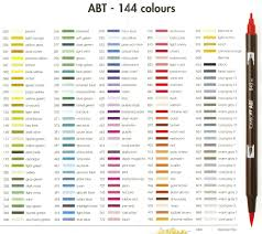 Tombow Dual Brush Pen Blank Color Chart Tombow Pens 272 Soft Green 526 True Blue Tombow Pens