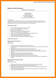 artist resume sle writing guide makeup artist resume sle by makeup artist profile exles makeup