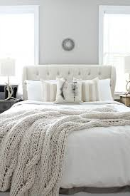 white tufted headboard.  Headboard White Tufted Headboard Cable Knit Throw With White Tufted Headboard H