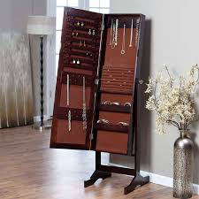 home furnishings with jewelry mirror armoire standing jewelry mirror armoire and floor lamp with wood