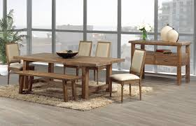 Round Dining Table With Bench Seating Simple Design Rustic Wood Dining Room Tables Unusual Ideas Rustic