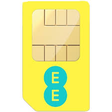 EE Pay As You Go PAYG Nano Sim Card 4GEE 4G Mobile Broadband