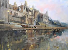 early morning varanasi oil painting lesson by james willis only available on arttutor