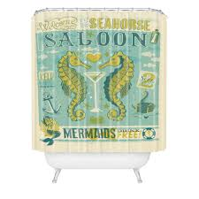 Seahorse Bathroom Accessories Anderson Design Group Seahorse Saloon Shower Curtain Deny