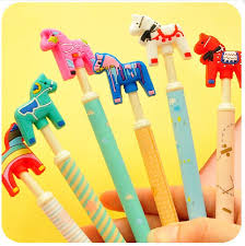 crazy office supplies. (8 Pieces/lot) Cute Crazy Pony Gel Pen Student Creative Papelaria School Office Supplies H