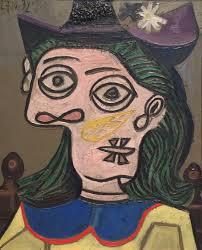 pablo picasso woman in purple hat 1939