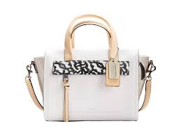 Lyst - Coach Bleecker Mixed Media Mini Riley Carryall in White