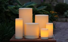 Outdoor Flameless Candles Enchanting Outdoor Flameless Candle Resin 32 Inches Bungalow 32