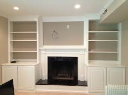 Built In With Fireplace Fireplace Mantel With Built In Cabinets Fireplace Design And Ideas