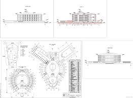 Проекты гостиниц скачать Чертежи РУ Курсовой проект Курортная гостиница вместимостью 96 мест