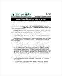 Mutual Confidentiality Agreement 100 Images of Mutual Ownership Agreement Template lastplant 58