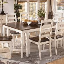 ashley kitchen table and chairs on kitchen within farmhouse dining table ashley furniture casual two tone white 7